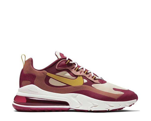 Nike Air Max 270 React Noble Red / Dark Sulfur - Team Gold AO4971-601