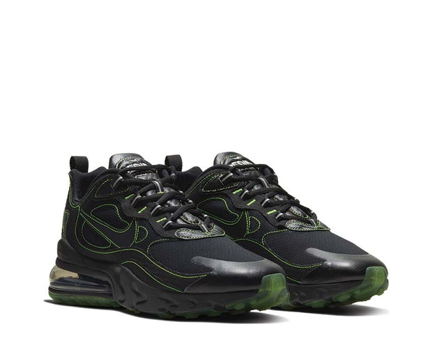 Nike Air Max 270 React SP Black & Green 【CQ6549 001】 Foot District