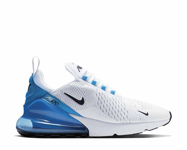 5aaf2913 Nike Air Max 270 White Black Photo Blue Pure Platinum AH8050-110 ...