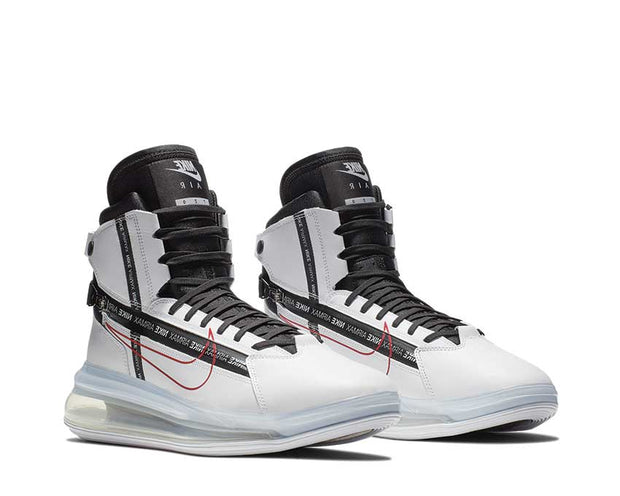 Nike Air Max 720 Satrn White Black University Red AO2110 100