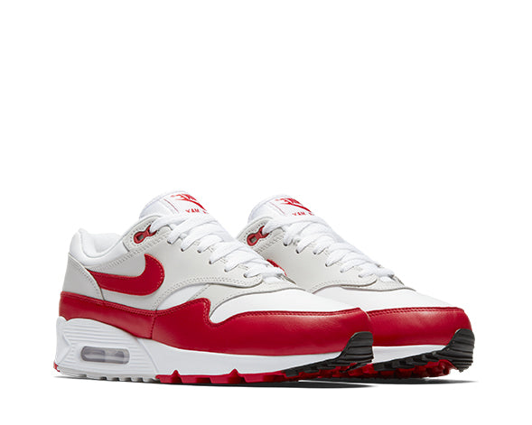 factory authentic 468db 6ffd6 Nike Air Max 90 1 White Red AQ1273-100 - NOIRFONCE