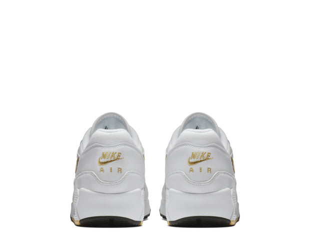 Nike Air Max 90/1 White Metallic Gold Black AJ7695 102