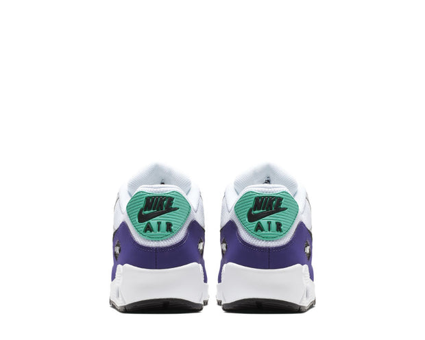 Nike Air Max 90 White Black Hyper Jade Court Purple AJ1285-103