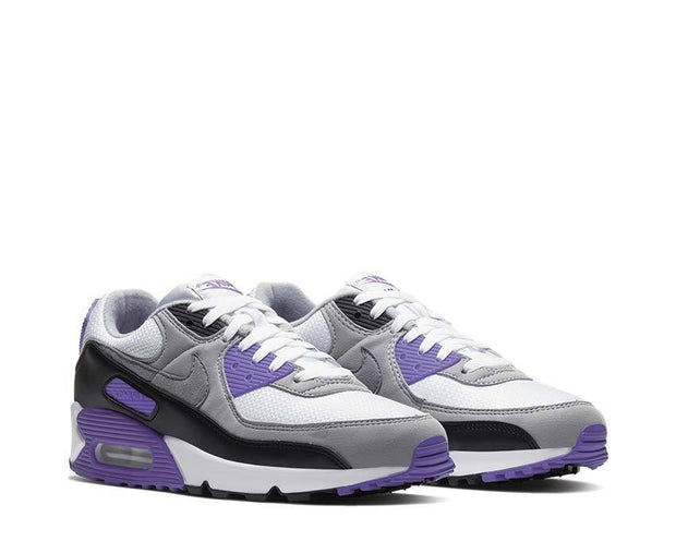 Nike Air Max 90 White / Particle Grey - Hyper Grape - Black CD0881-104