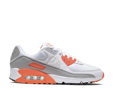 Nike Air Max 90 White / White - Hyper Orange - LT Smoke Grey CT4352-103