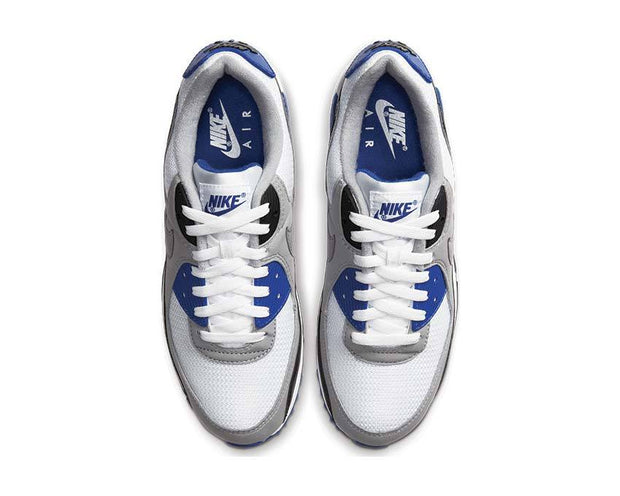 Nike Air Max 90 White / Particle Grey - Hyper Royal - Black CD0881-102