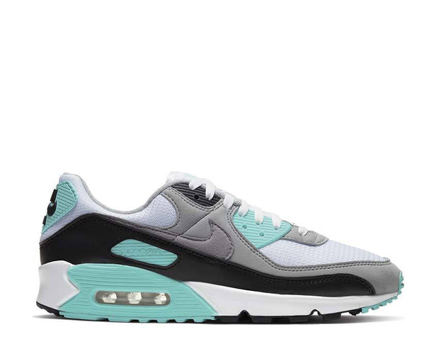 Nike Air Max 90 White / Particle Grey - Hyper Turquoise - Black CD0881-100