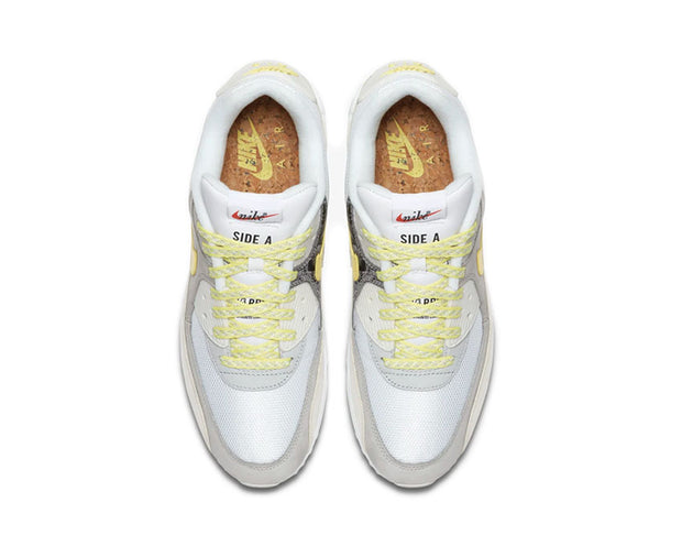 Nike Air Max 90 Premium QS Side A White / Lemon Frost - Light Bone CI6394-100