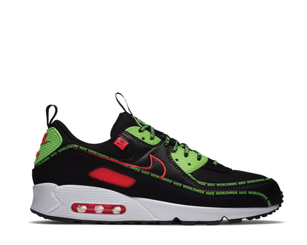 Nike Air Max 90 SE Black / Flash Crimson - Green Strike - White CK6474-001