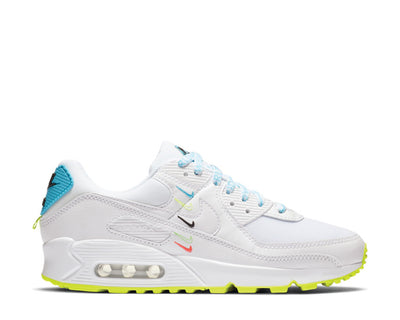 Nike Air Max 90 SE White / White - Blue Fury - Volt CK7069-100