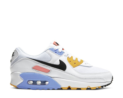 Nike Air Max 90 White / Black - Pure Platinum - Solar Flare CZ3950-100