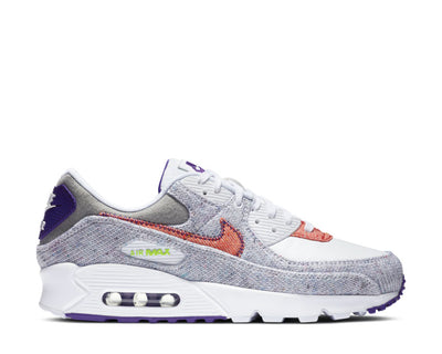 Nike Air Max 90 White / Electric Green - Court Purple CT1684-100