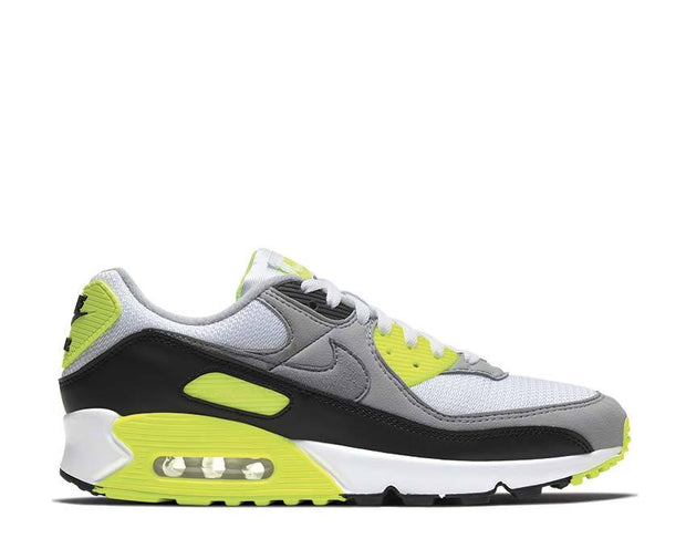 Nike Air Max 90 White / Particle Grey - Volt - Black CD0881-103