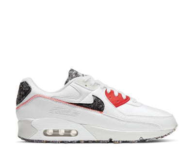 Nike Air Max 90 White / Photon Dust - Bright Crimson DD0383-100