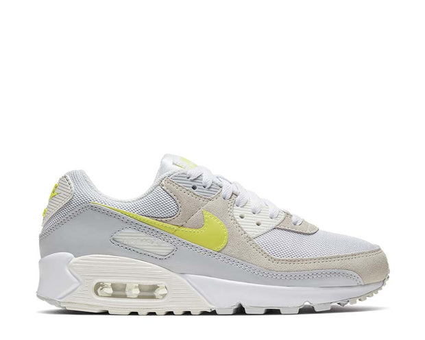 Nike Air Max 90 Wmns White / Lemon Venom - Pure Platinum - Sail CW2650-100