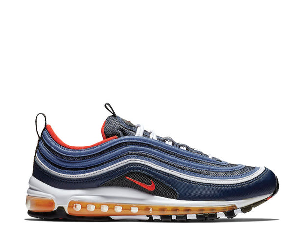 Nike Air Max 97 Midnight Navy Habanero Red Black White 921826 403
