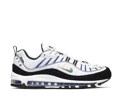 Nike Air Max 98 PRM White Teal Nebula University Gold Black BV0989-102
