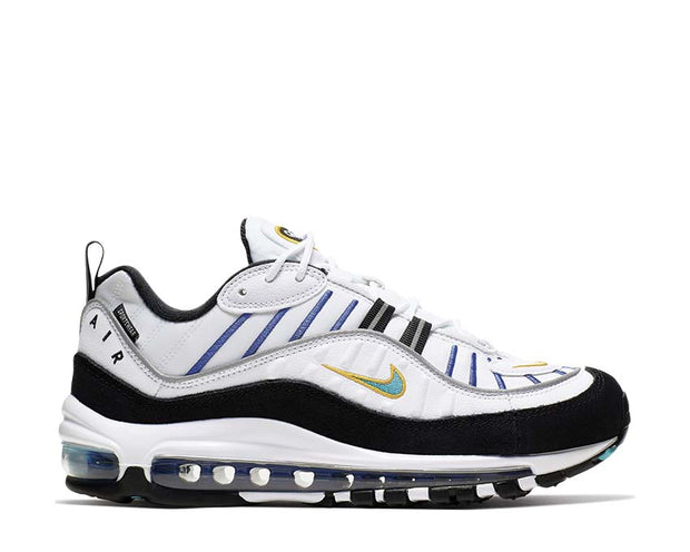 Nike Air Max 98 Prm White Teal Nebula University Gold Black CI1901-102