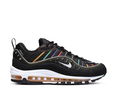 Nike Air Max 98 Prm W Black Flash Crimson Kinetic Green CI1901-023