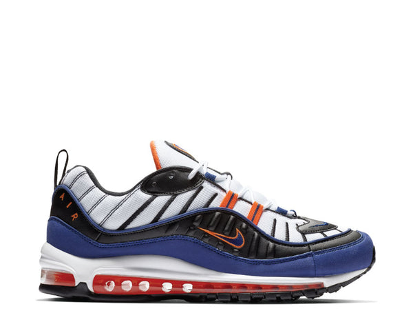 ccc075d502 Nike Air Max 98 White Deep Royal Blue Total Orange Black CD1536 100 ...