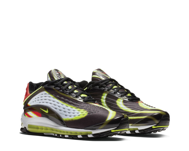 Nike Air Max Deluxe Black Volt Habanero Red White AJ7831-003