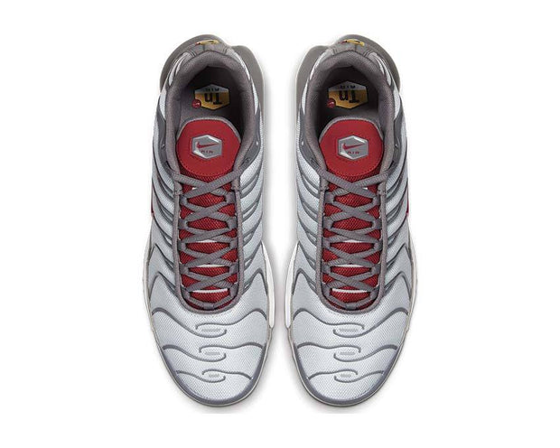 Nike Air Max Plus Metallic Platinum / Gym Red - Gunsmoke - White 852630-041
