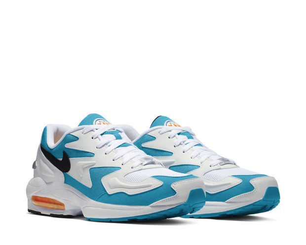 Nike Air Max2 Light White Black Blue Lagoon Laser Orange AO1741-100