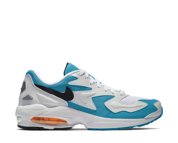 hot sale online 9ab99 3af7f Nike Air Max2 Light White Black Blue Lagoon Laser Orange AO1741-100 ...