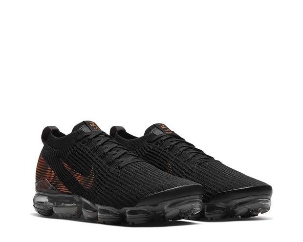 Nike Air Vapormax Flyknit 3 Black / Total Orange - DK Smoke Grey CU1926-001