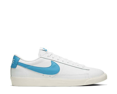 Nike Blazer Low Leather White / Laser Blue - Sail CI6377-104
