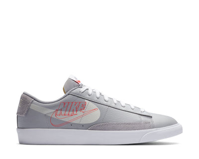 Nike Blazer Low Wolf Grey / Sail - Bright Crimson - White DA4652-001
