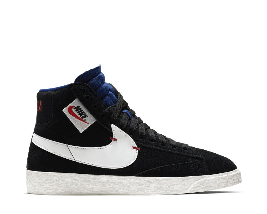 Nike Blazer Mid Rebel Black Summit White Deep Royal Blue BQ4022 005