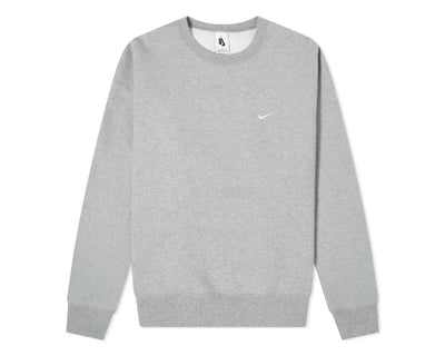 Nike M NRG Soloswoosh Crew Fleece DK Grey Heather / White CV0554-063
