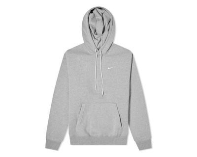 Nike M NRG Soloswoosh Hoodie Fleece DK Grey Heather / White CV0552-063