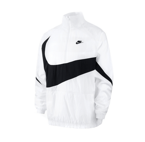 Nike Swoosh Halfzip Jacket Black White