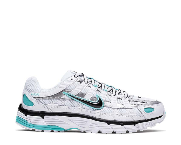 Nike P-6000 W White Black Metallic Silver Light Aqua BV1021-104