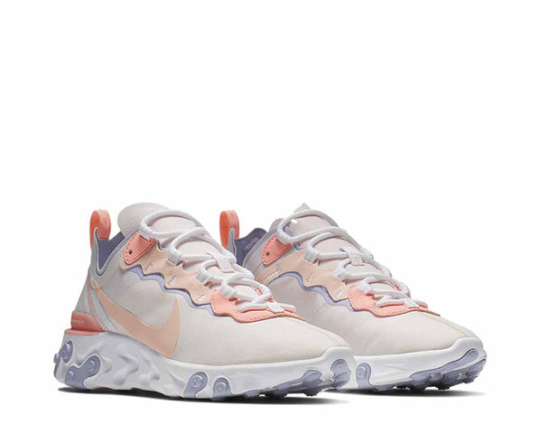 buy online 220f1 0a098 ... Nike React Element 55 Pale Pink Washed Coral Oxygen Purple BQ2728-601  ...