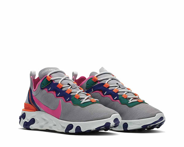 Nike React Element 55 Wolf Grey Laser Fuchsia Hyper Crimson BQ2728-006