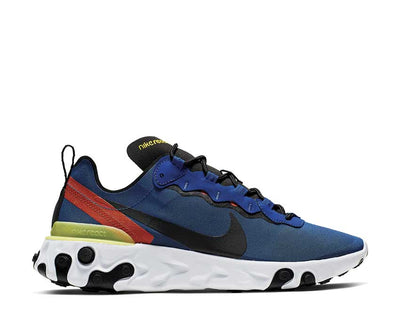 Nike React Element 55 Game Royal Black White Dynamic Yellow BQ6166-403