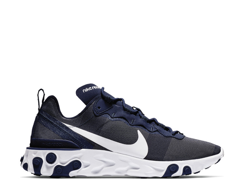 Nike React Element 55 Midnight Navy White BQ6166-401