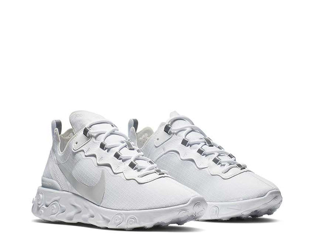 Nike React Element 55 White Pure Platinum BQ6167-101