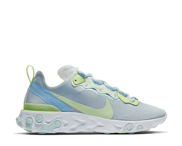 Nike React Element 55 White Frosted Spruce Barely Volt BQ2728-100