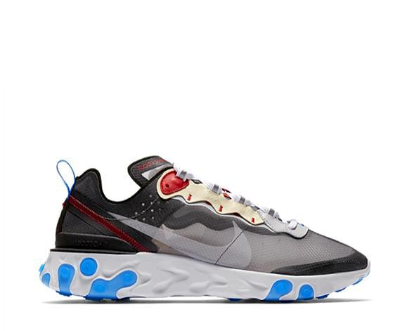 Nike React Element 87 Dark Grey / Photo Blue AQ1090-003