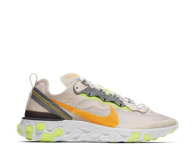 Nike React Element 87 LT Orewood Brn Laser Orange Volt Glow AQ1090 101