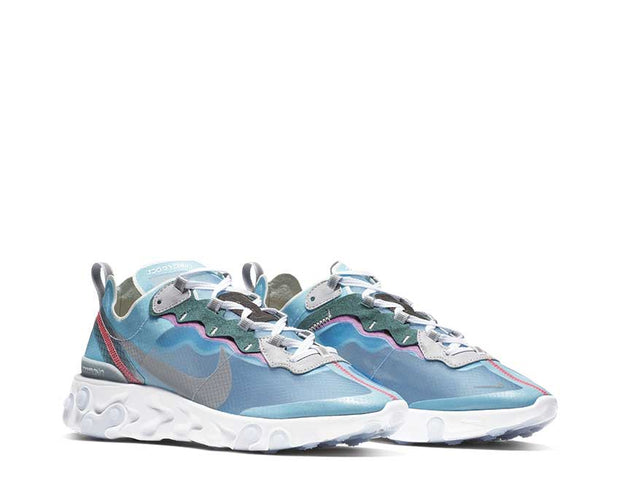 Nike React Element 87 Royal Tint Black Wolf Grey Solar Red AQ1090-400