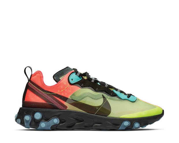 Nike React Element 87 Volt Racer Pink Black Aurora AQ1090-700