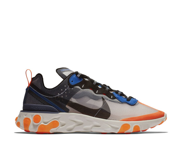 Nike React Element 87 Wolf Grey Black Thunder Blue AQ1090-004