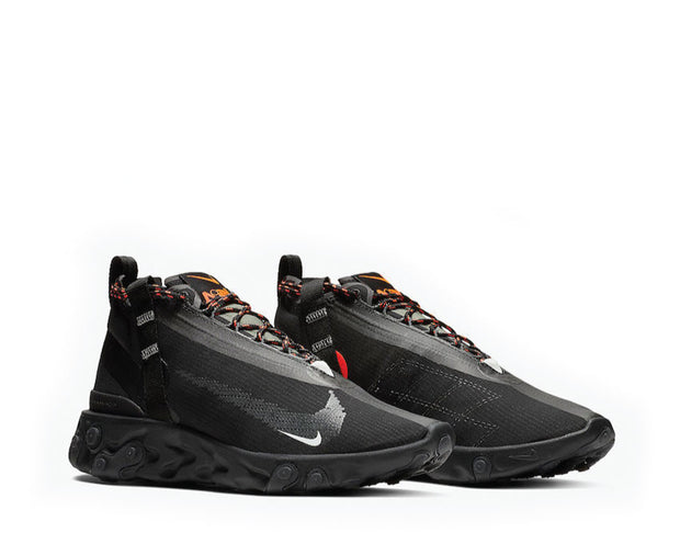 Nike React Runner Mid Wr ISPA Black White Anthracite Total Crimson AT3143-001