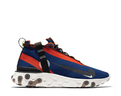 Nike React Running Mid Wr ISPA Blue Void Black Team Orange Phantom AT3143-400