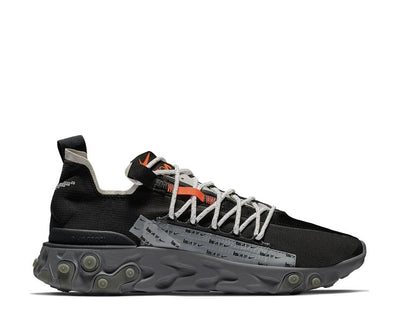 Nike React WR ISPA Black Metallic Silver Gunsmoke AR8555-001